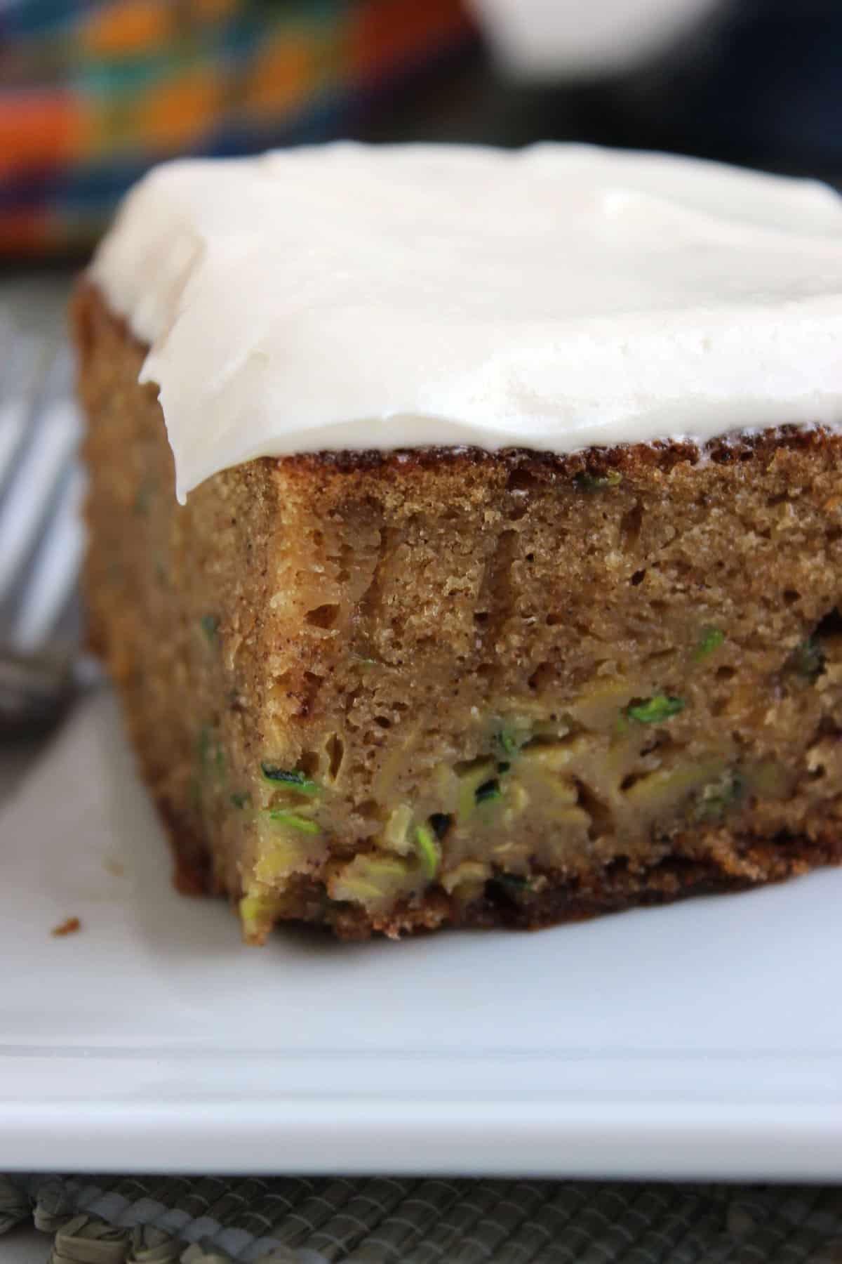 Spiced Zucchini Cake with White Chocolate Cream Cheese ...
