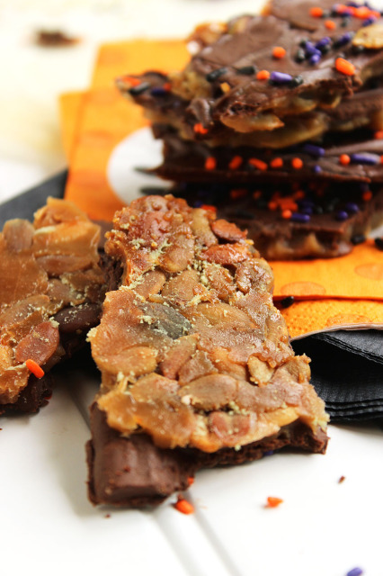 Chocolate Covered Pumpkin Seed Toffee | The Suburban Soapbox