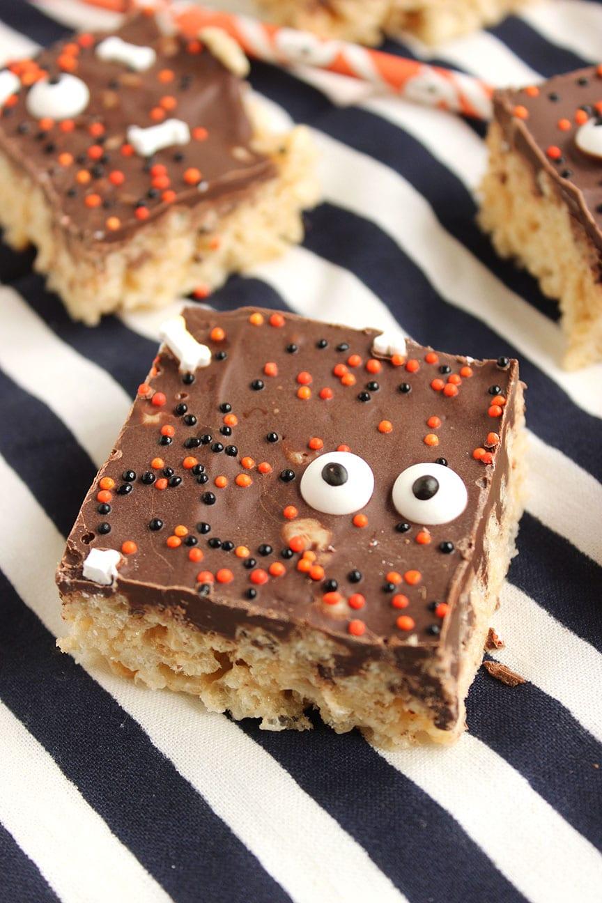 Chocolate Covered Rice Krispie Peeps - The Suburban Soapbox