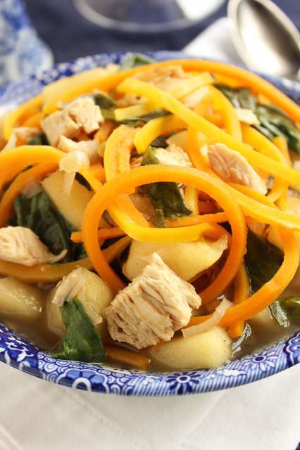 Chicken and Butternut Noodle Soup | The Suburban Soapbox