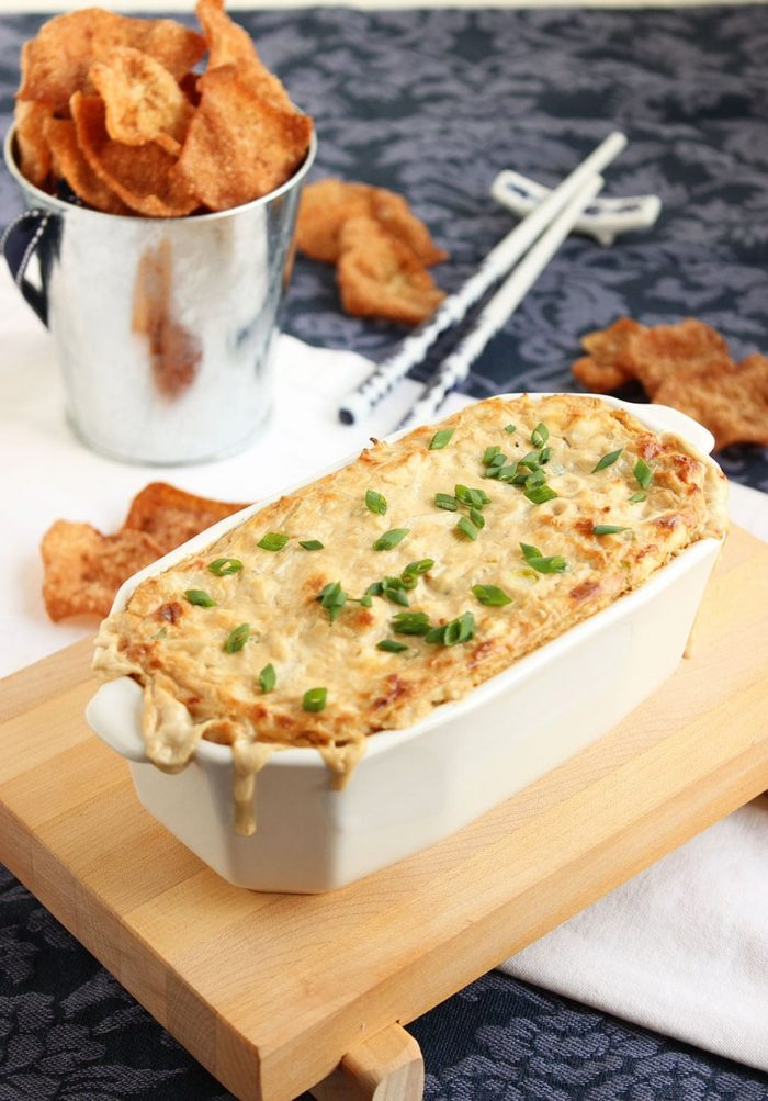 Crab Rangoon Dip with Five Spice Chips | The Suburban Soapbox