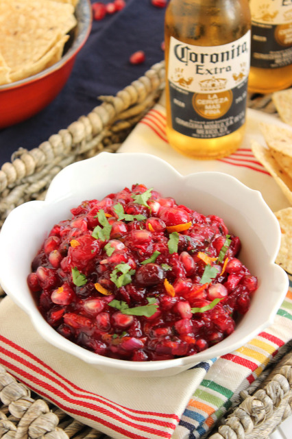 Cranberry Pomegranate Salsa | The Suburban Soapbox