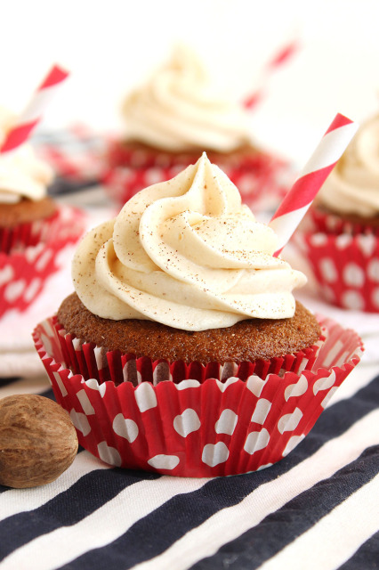 Gingerbread Latte Cupcakes with Eggnog Buttercream   The Suburban Soapbox