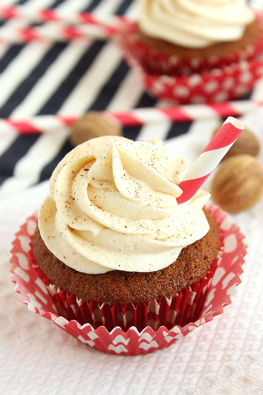 1st Day Of Christmas Egg Nog Cupcakes Recipe — Dishmaps