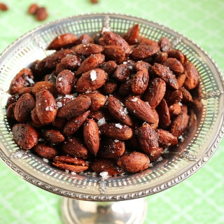 Spicy Cinnamon Maple Roasted Almonds