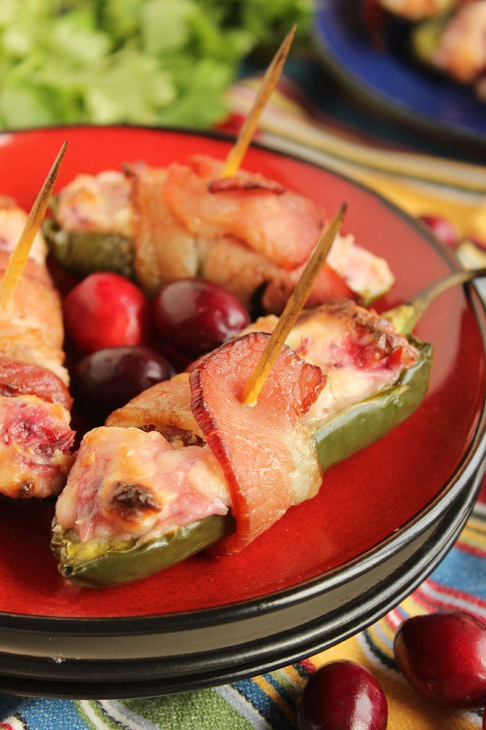 Cranberry Cream Cheese Jalapeño Poppers | The Suburban Soapbox