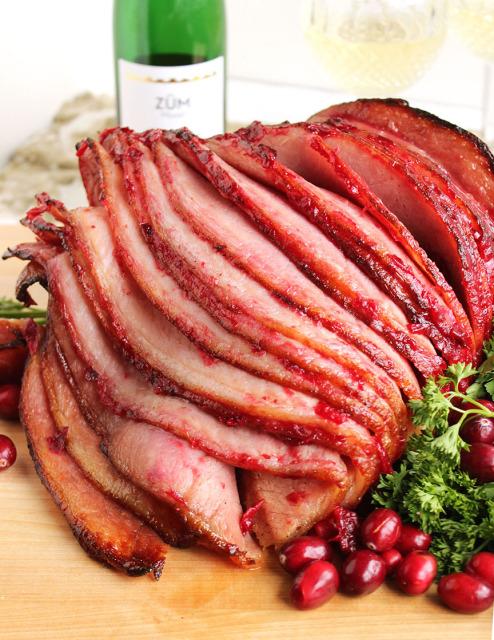 Riesling-Cranberry Glazed Ham | The Suburban Soapbox