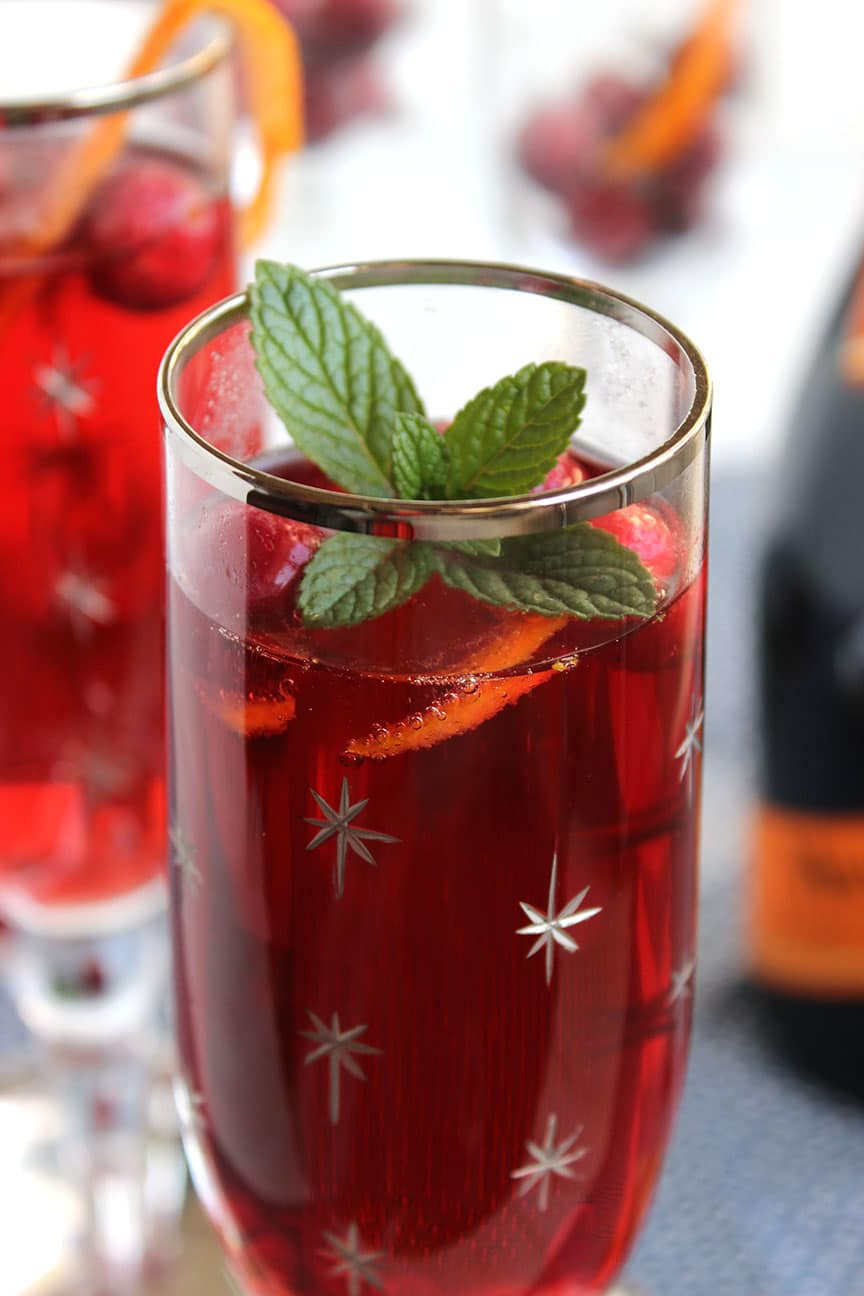 Cranberry Pomegranate Bellini