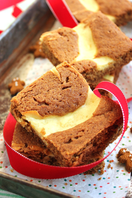 Gingerbread Blondies with Meyer Lemon Cream Cheese Swirl | The Suburban Soapbox