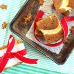 Gingerbread Blondies with Meyer Lemon Cream Cheese Swirl