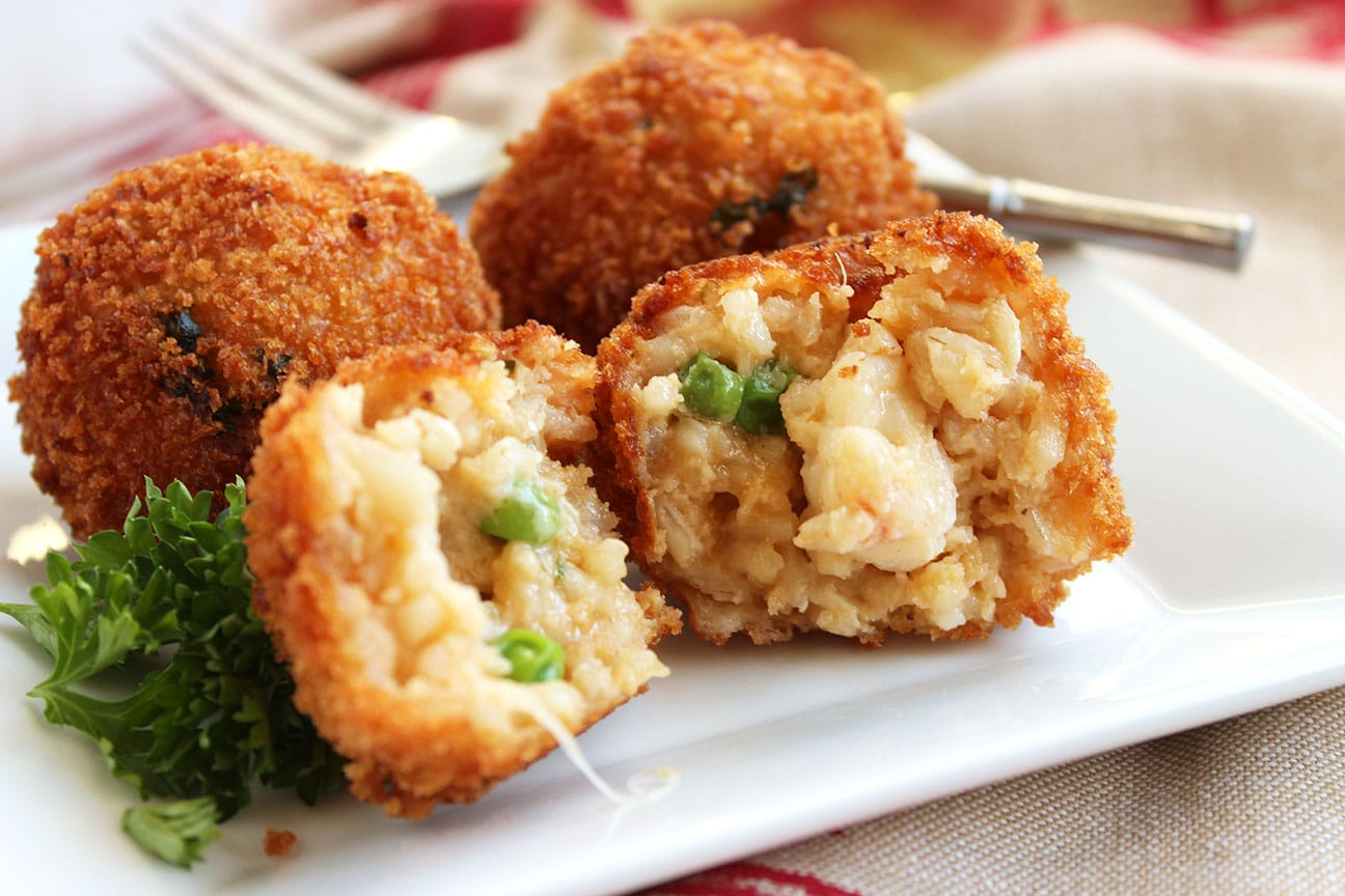 Easy Lobster Arancini - The Suburban Soapbox