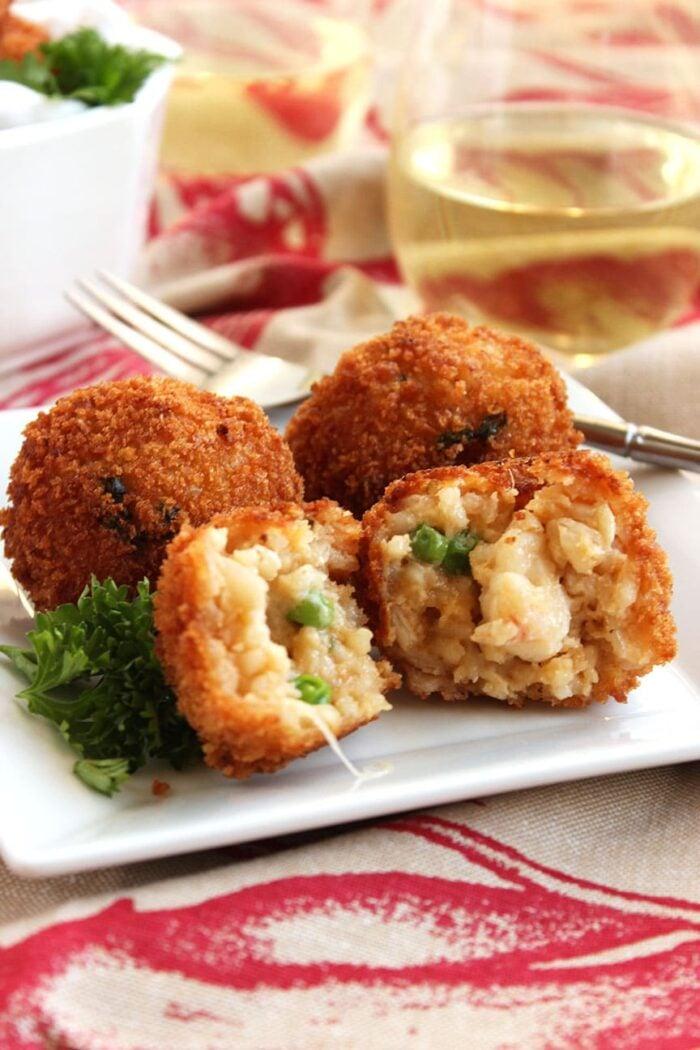 Easy Lobster Arancini | The Suburban Soapbox #newyears #appetizer