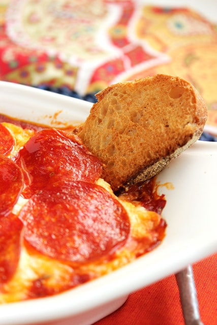 Pepperoni Pizza Dip | The Suburban Soapbox #superbowl #recipe #dip