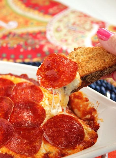 Pepperoni Pizza Dip   The Suburban Soapbox #superbowl #recipe #dip