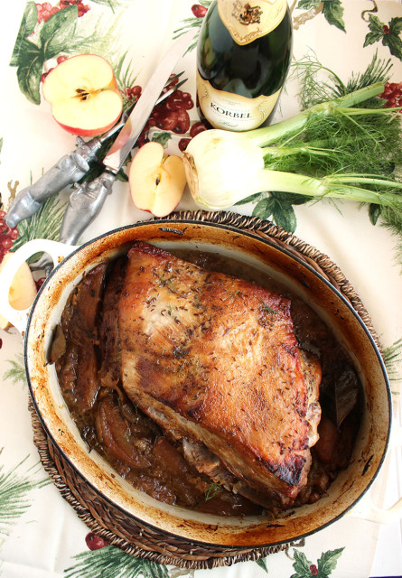 Slow Roasted Pork with Sauerkraut, Fennel and Apples | The Suburban Soapbox #porkandsauerkraut #slowcooker