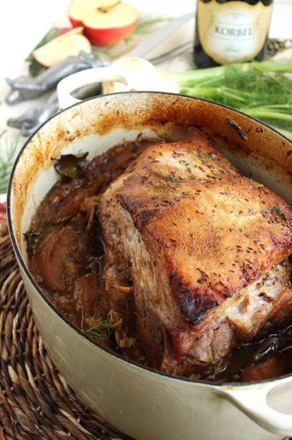 Slow Roasted Pork with Sauerkraut, Fennel and Apples   The Suburban Soapbox #porkandsauerkraut #slowcooker