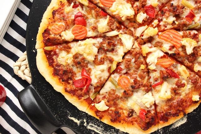 Sausage and Giardiniera Pizza   The Suburban Soapbox #pizza