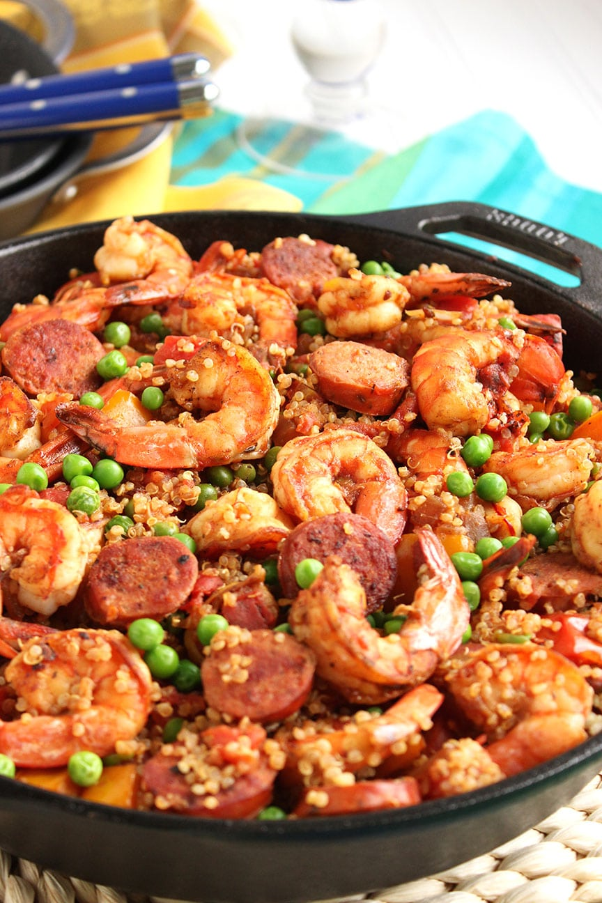 rice spicy wok shrimp with coconut rice chorizo and shrimp rice recept ...