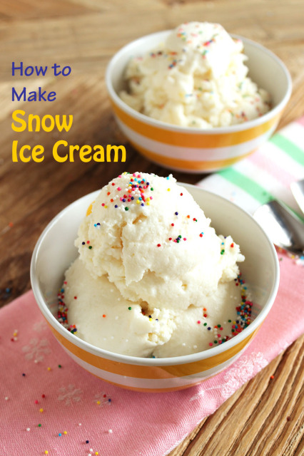 How to Make Snow Ice Cream | The Suburban Soapbox #snow #icecream #howto
