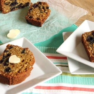 Blueberry Oatmeal Muffin Bread