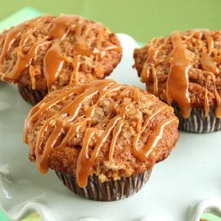 Caramel Crunch Banana Oat Muffins
