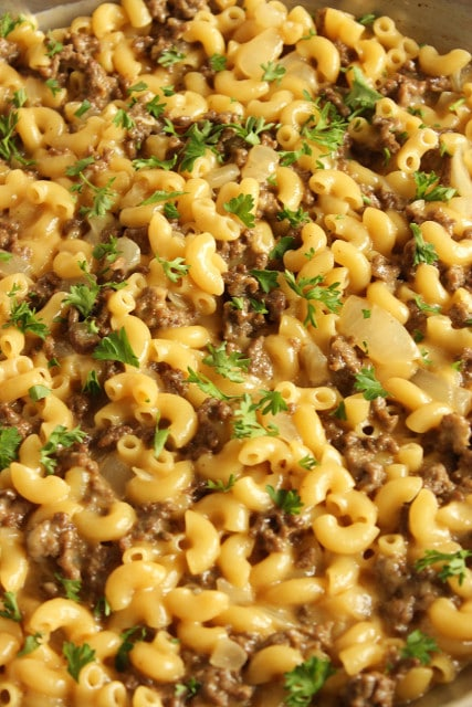 Cheeseburger Macaroni Skillet | The Suburban Soapbox # ...