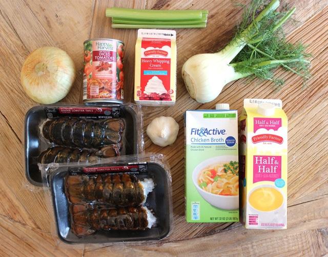 Easy Lobster Bisque   The Suburban Soapbox #lobsterbisque #valentinerecipe #inthealdikitchen