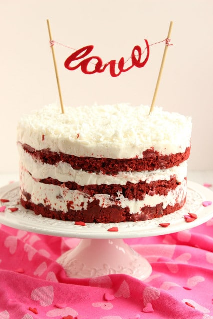 , this Red Velvet Coconut Cake with Coconut Cream Cheese Frosting ...