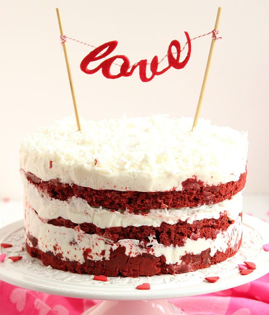 Sour Cream Frosting Red Velvet Cake
