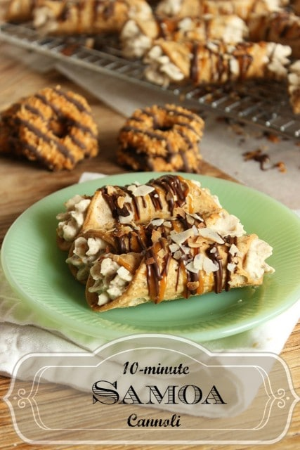 10 Minute Samoa Cannoli | The Suburban Soapbox #girlscoutcookies #samoa #cannoli