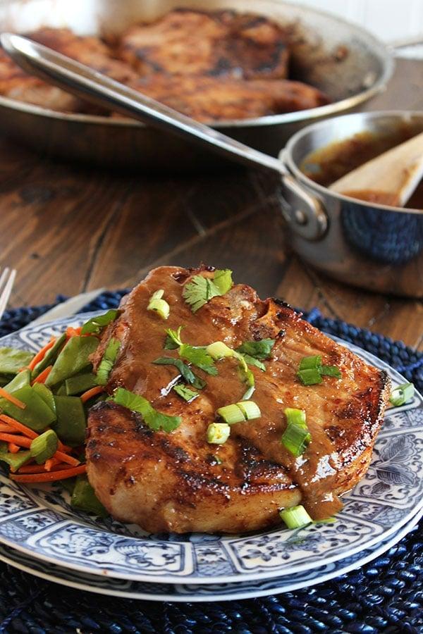 Asian-Style Pan-Roasted Pork Loin Chops | The Suburban Soapbox #asianrecipe #porkchops