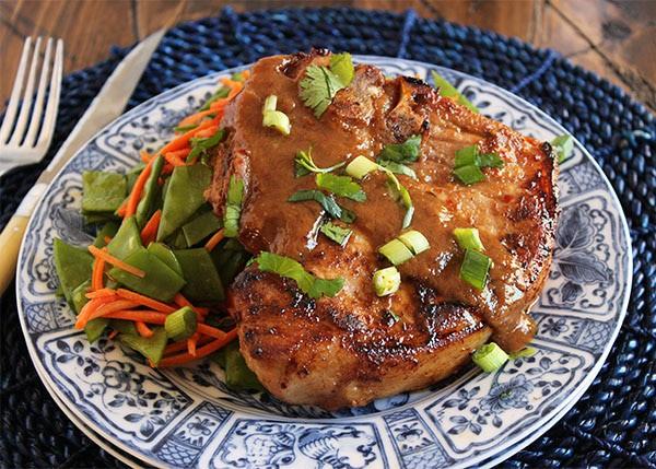 Asian-Style Pan-Roasted Pork Chops
