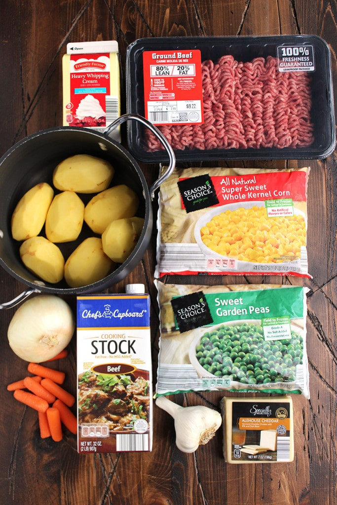 Shepherd's Pie with Alehouse Cheddar Mashed Potatoes   The Suburban Soapbox #shepherdspie #casserole #onepotmea