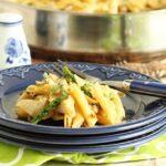 20-Minute Artichoke Asparagus and Sausage Pasta Skillet