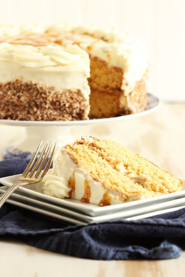 Kentucky Bourbon Butter Cake with Cream Cheese Frosting and Salted ...