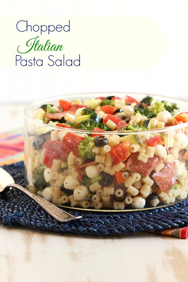 Chopped Italian Pasta Salad | The Suburban Soapbox #salad #pasta