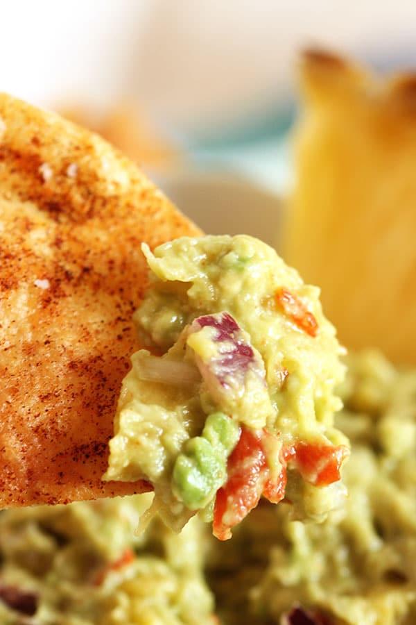 Spicy Cumin Dusted Tortilla Chips | The Suburban Soapbox #tortillachips #cincodemayo
