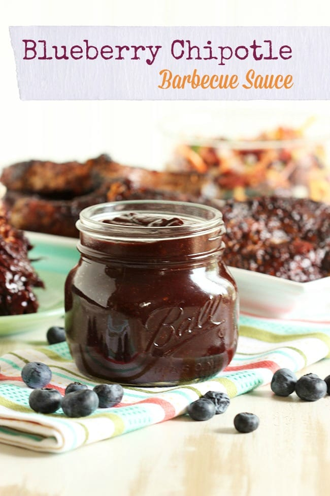 Blueberry Chipotle Barbecue Sauce   The Suburban Soapbox #barbecuesauce #cleaneating