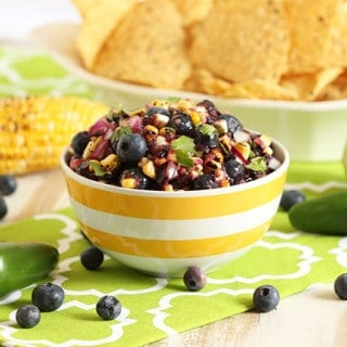 Blueberry and Grilled Corn Salsa