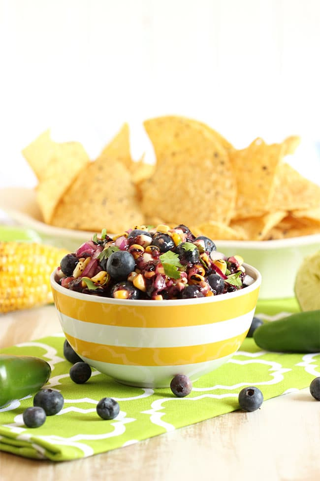 Blueberry and Grilled Corn Salsa - The Suburban Soapbox