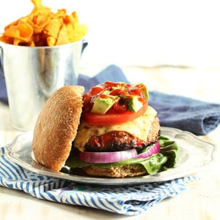 Fajita Turkey Burgers with Chipotle Ketchup