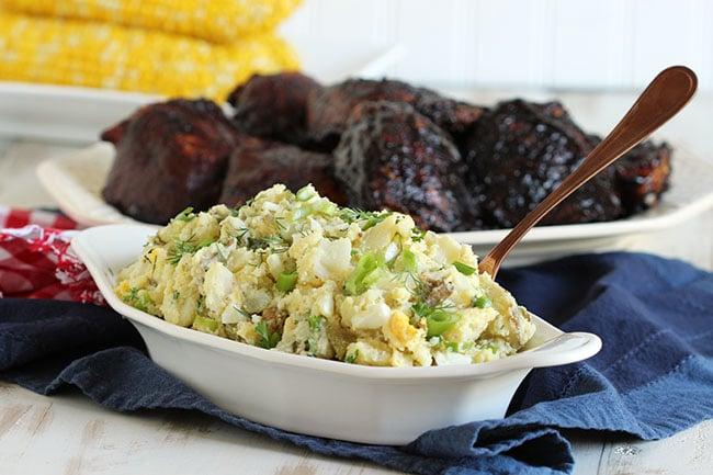 The Best Smashed Potato Salad - The Suburban Soapbox