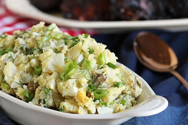The Best Smashed Potato Salad | The Suburban Soapbox #potatosalad