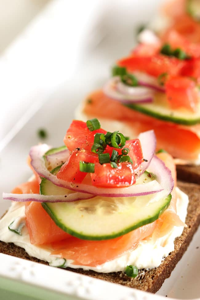 The top 20 healthy recipes of all time the suburban soapbox for Smoked salmon cream cheese canape