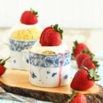 Strawberry and Cream Mug Cake