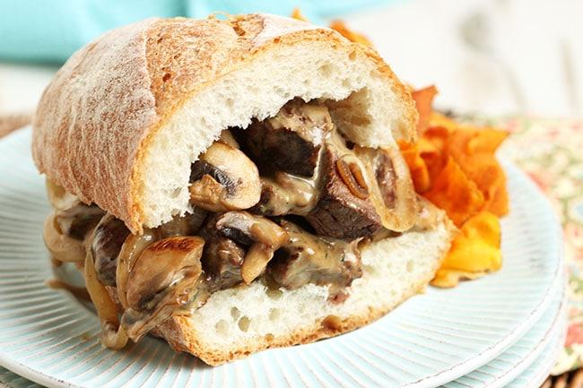 Grilled Beef Tenderloin Sandwich with Cheesy Bearnaise Sauce   The Suburban Soapbox #grilledsandwich