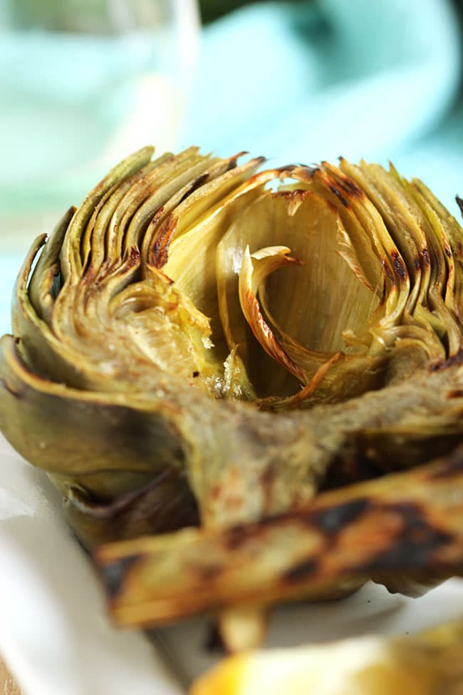 Grilled Artichokes with Garlic Asiago Sauce | The Suburban Soapbox # ...
