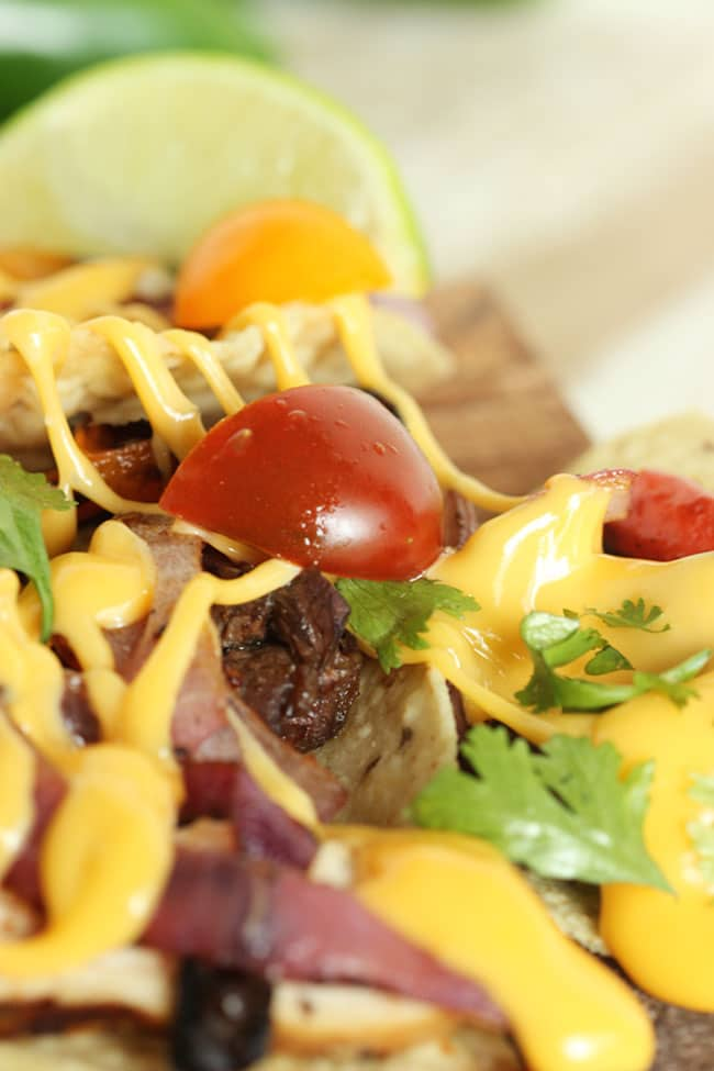 Grilled Fajita Nachos | The Suburban Soapbox #eatliquidgold #liquidgold5