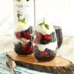 Red Wine Berry Parfait with Honey Whipped Goat Cheese