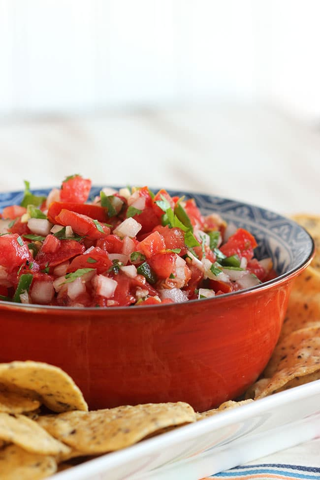 The Very Best Fresh Tomato Salsa | The Suburban Soapbox  #bestsalsa